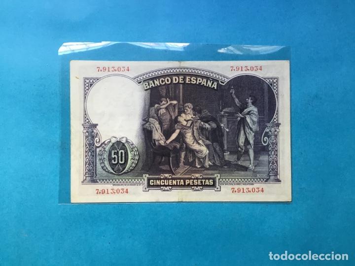 Monedas República: X-294 ) ESPAÑA,,50 Pesetas 1931,,Sin SERÍE,, en Buen Estado conservación,, - Foto 2 - 155241846