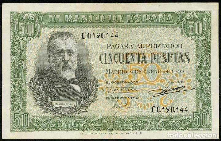 1940 BILLETE 50 PTAS SC++ NO.SERIE: C (Numismática - España Modernas y Contemporáneas - República)