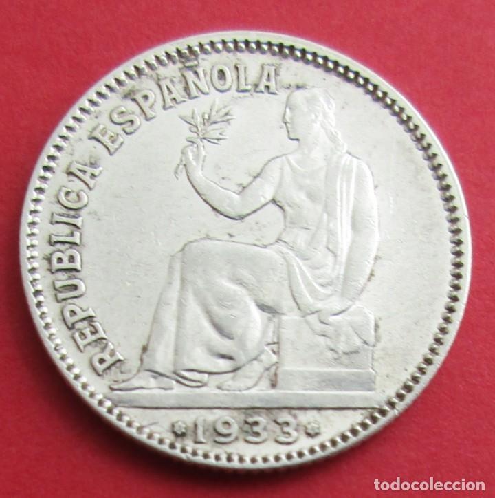 II REPÚBLICA. MONEDA DE 1 PESETA. 1933 *3 *4. PLATA. (Numismatik - Moderne und zeitgenössische spanische Münzen - Zweite Spanische Republik)