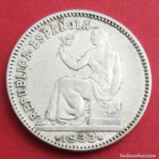 Monedas República: II REPÚBLICA. MONEDA DE 1 PESETA. 1933 *3 *4. PLATA.. Lote 156510218
