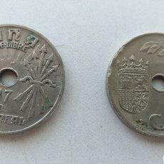 Monedas República: LOTE MONEDAS 25 CÉNTIMOS 1937. Lote 156617269