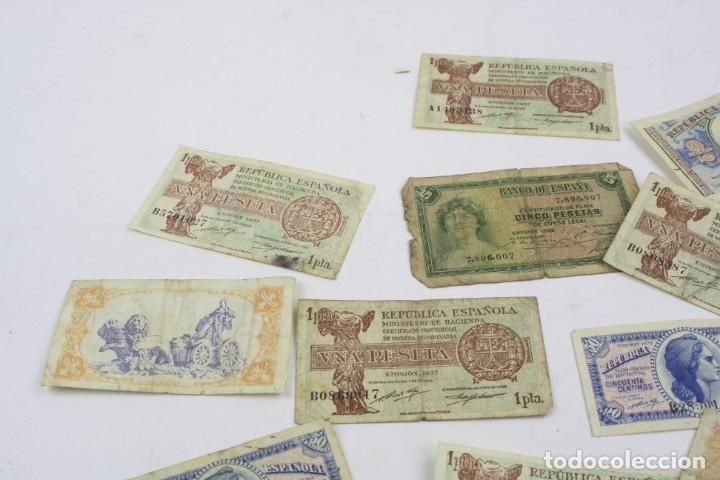 Monedas República: Lote de billetes, pesetas de la República Española. Ver fotos. - Foto 3 - 156985090