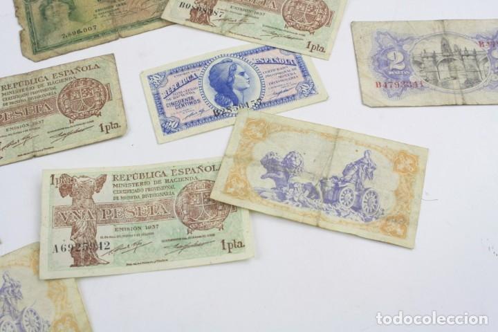 Monedas República: Lote de billetes, pesetas de la República Española. Ver fotos. - Foto 4 - 156985090