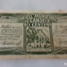 Monedas República: BILLETE DE 10 CENTIMOS TERMINO MUNICIPAL DE GANDESA. Lote 157866218