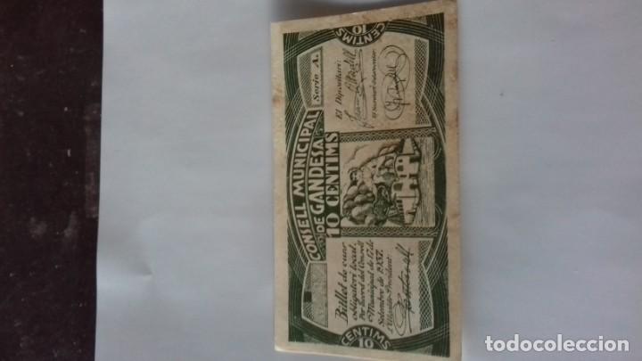 Monedas República: Billete de 10 Centimos termino municipal de Gandesa - Foto 2 - 157866218