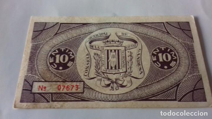 Monedas República: Billete de 10 Centimos termino municipal de Gandesa - Foto 5 - 157866218