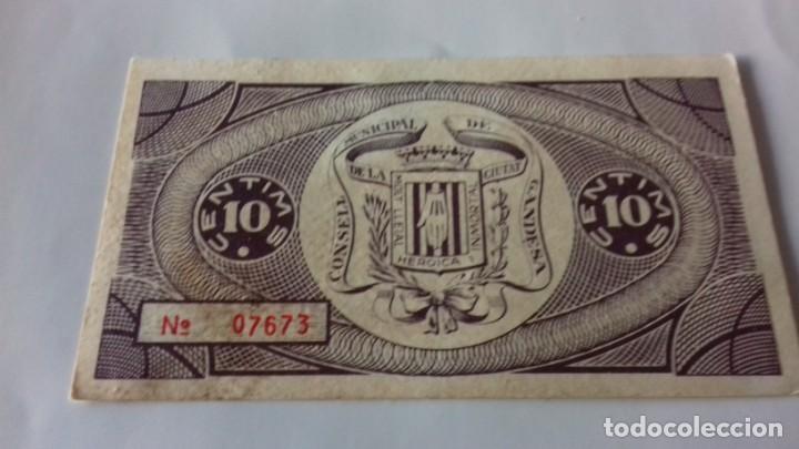 Monedas República: Billete de 10 Centimos termino municipal de Gandesa - Foto 6 - 157866218