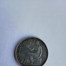 Monedas República: ANTIGUA MONEDA DE PLATA UNA PESETA REPUBLICA ESPAÑOLA 1933 ESTRELLAS 3-4 REVERSO GIRADO 45º MUY RARA. Lote 159864402