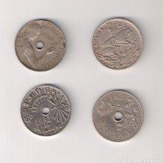 Monedas República: LOTE DE LAS 4 MONEDAS DE 25 CÉNTIMOS DE ESPAÑA 1925, 1927, 1934 Y 1937. Lote 162587708