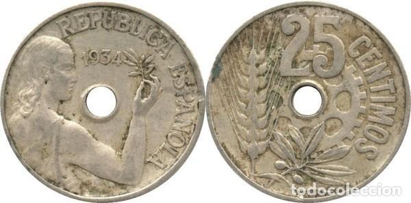 25 CÉNTIMOS DE PESETA 1934 MADRID (Numismática - España Modernas y Contemporáneas - República)