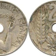 Monedas República: 25 CÉNTIMOS DE PESETA 1934 MADRID. Lote 184397710