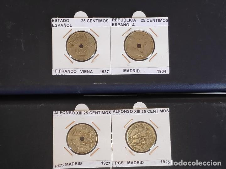 Monedas República: ESPAÑA. LOTE COMPLETO (4 PIEZAS) DE-25 CENTIMOS PESETA - (1 REAL) ENCARTONADAS - Foto 7 - 212874647