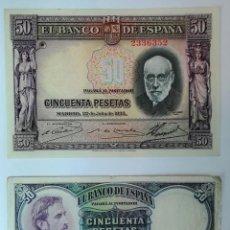 Monedas República: 1 BILLETE DE 50 PESETAS 1931 Y 1 BILLETE DE 50 PESETAS 1935. ESPAÑA. Lote 161784114
