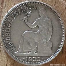 Monedas República: REVERSO GIRADO 1 PESETA DE LA II REPÚBLICA ESPAÑOLA DE 1933. Lote 162439425