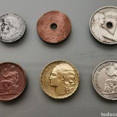 Monedas República: EXCELENTE LOTE 6 MONEDAS REPÚBLICA ESPAÑOLA. Lote 163811832