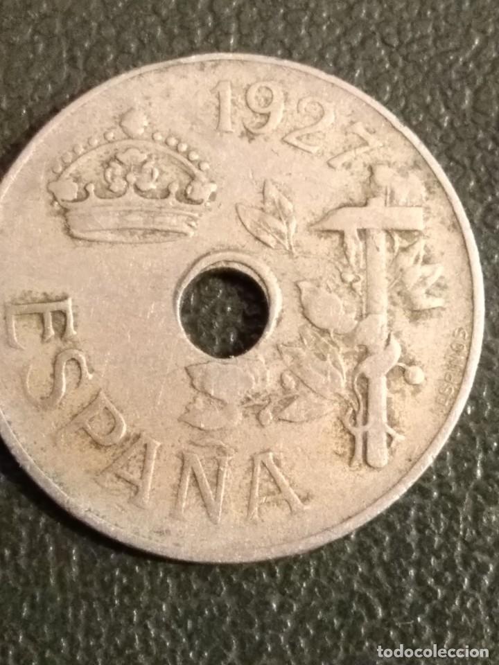 Monedas República: Lote de 5 monedas de 25 centimos de 1925-27-34 y 37 - Foto 9 - 164175542