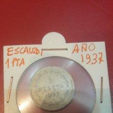 Monedas República: 1937GOBIERNO EUZCADI UNA PESETA. Lote 165712916