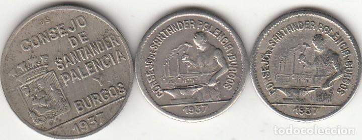 II REPUBLICA: 1937 CONSEJO DE SANTANDER PALENCIA Y BURGOS - 1 PESETAS / 50 CENTIMOS / 50 CENTS (PJR) (Numismática - España Modernas y Contemporáneas - República)