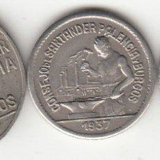 Monedas República: II REPUBLICA: 1937 CONSEJO DE SANTANDER PALENCIA Y BURGOS - 1 PESETAS / 50 CENTIMOS / 50 CENTS (PJR). Lote 129722183