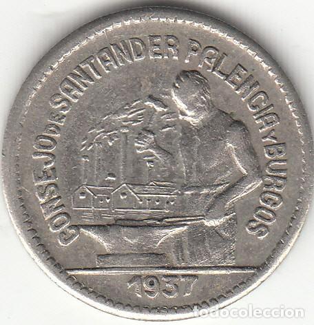 II REPUBLICA: 50 CENTIMOS. CONSEJO DE SANTANDER PALENCIA Y BURGOS - 1937 (Numismática - España Modernas y Contemporáneas - República)