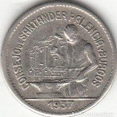 Monedas República: II REPUBLICA: 50 CENTIMOS. CONSEJO DE SANTANDER PALENCIA Y BURGOS - 1937. Lote 165803382