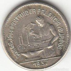Monedas República: II REPUBLICA: 50 CENTIMOS. CONSEJO DE SANTANDER PALENCIA Y BURGOS - 1937 / VARIANTE PJR. Lote 165803426