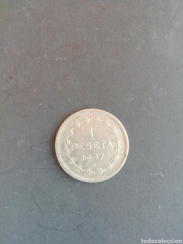 Monedas República: Moneda 1 peseta 1937, gobierno de Euzkadi - Foto 2 - 169578326