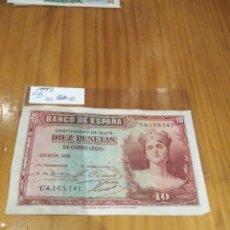 Monedas República: 10 PESETAS DE 1935. Lote 171517852