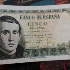Monedas República: BILLETE 5 PESETAS 1951. Lote 171653227