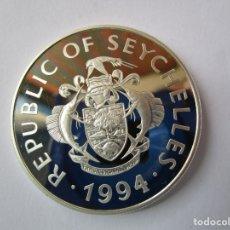 Monedas República: ISLAS SEYCHELLES .25 RUPEES DE PLATA . AÑO 1994 . MAYOR PESO QUE UNA ONZA . TOTALMENTE NUEVA. Lote 174087270