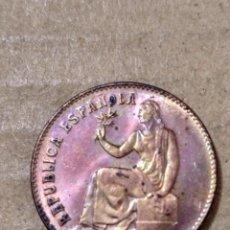 Monedas República: X- MUY BONITOS 50 CÉNTIMOS ORLA DE PUNTOS CUADRADOS ESTRELLA 6 VISIBLE. Lote 174204297
