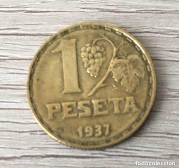 1 PESETA DE 1937 DE LA REPUBLICA (Numismática - España Modernas y Contemporáneas - República)