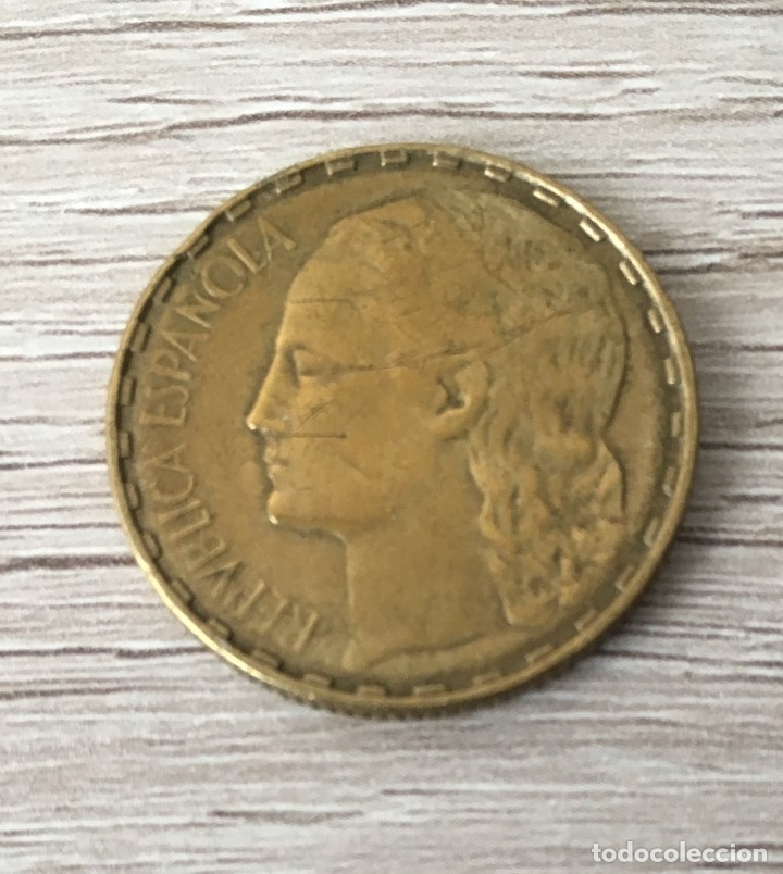 Monedas República: 1 peseta de 1937 de la republica - Foto 2 - 219748580