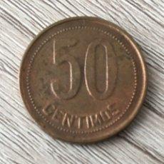 Monedas República: 50 CENTIMOS 1937*3-4. Lote 175336658