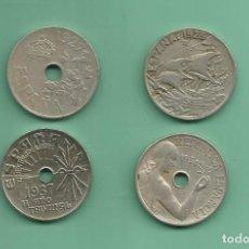 Monedas República: ESPAÑA: 4 MONEDAS DE 25 CENTIMOS 1925,1927,1934,1937. Lote 175608548