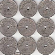 Monedas República: GUERRA CIVIL: 10 CENTIMOS 1937 - II AÑO TRIUNFAL ( LOTE 10 MONEDAS ). Lote 176287490