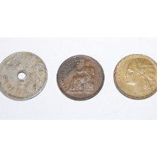 Monedas República: 3 MONEDAS DE LA 2ª REPUBLICA - 25, 50 CENT Y 1 PTA. Lote 159886922