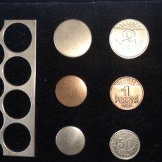 Monedas República: MUESTRAS DE MONEDA ACUÑADA TALLERES DE LA JUNTA DE OBRAS DEL PUERTO Y RÍA DE AVILÉS. Lote 178639870