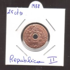 Monedas República: ORIGINAL MONEDA 25 CTMOS DE LA REPUBLICA LA QUE VES . Lote 179196211