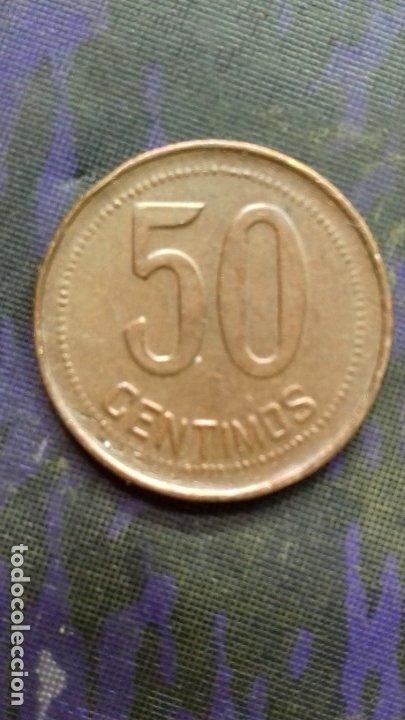 Monedas República: Cincuenta céntimos de peseta 1937 *1*6. 5,96 gramos SC. Orla mixta partes de orla con rayos de Sol. - Foto 3 - 180255355