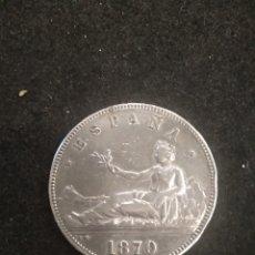 Monedas República: MONEDA 5 PESETAS DE PLATA 1870, 18-70 DURO DE PLATA. Lote 180396516