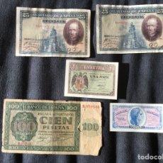 Monedas República: BILLETES BANCO DE ESPAÑA VARIADOS. Lote 181982467