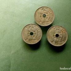 Monedas República: 3 X 25 CENTIMOS 1934. . Lote 183181766