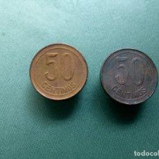 Monedas República: 2 X 50 CENTIMOS 1937. ESTR. 3-6. . Lote 183183356