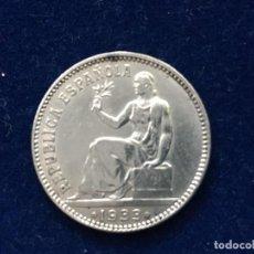 Monedas República: UNA PESETA PLATA REPUBLICA ESPAÑOLA DE 1933, ESTRELLA 3 Y 4. Lote 183369073