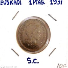 Monedas República: MONEDA EUSKADI 1 PESETA 1937 S.C. Lote 183555030