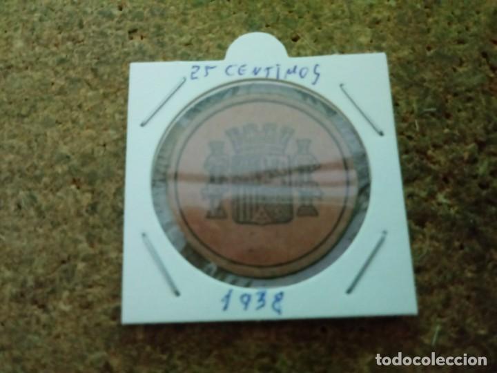 MONEDA DE LA REPUBLICA DE 25 CENTIMOS 1938 (Numismática - España Modernas y Contemporáneas - República)
