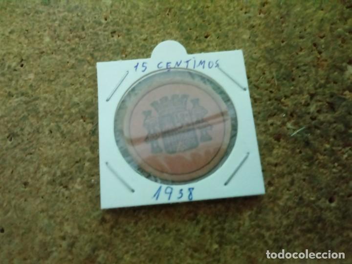 MONEDA DE LA REPUBLICA DE 15 CENTIMOS 1938 (Numismática - España Modernas y Contemporáneas - República)