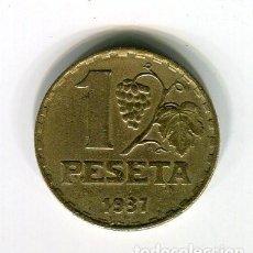 Monedas República: 1 PESETA II REPUBLICA ESPAÑOLA AÑO 1937. Lote 184151745