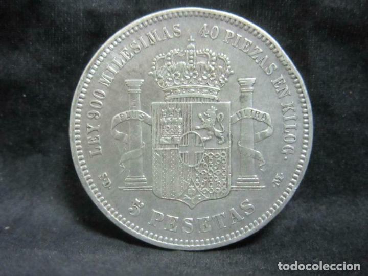 Monedas República: Moneda de plata 900er-España 5 pesetas 1871 Amadeo I aprox. 24,7 g) - Foto 2 - 187460857